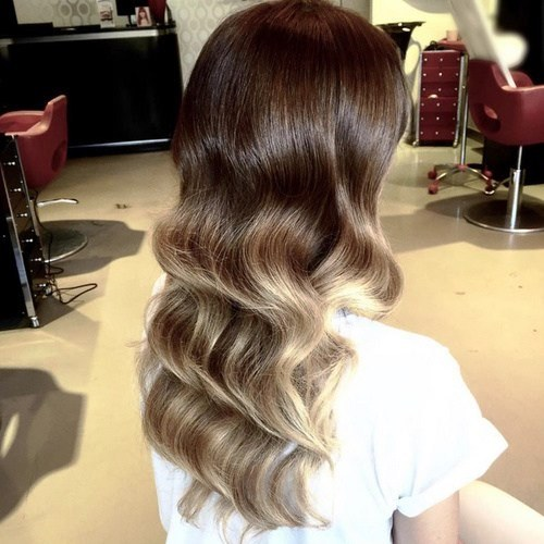 Wavy Ombre Long Hairstyles for Thin Hair