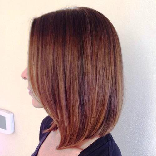 A-Line Silhouette Medium Straight Hairstyle