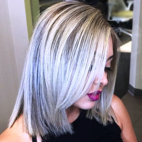 Ash Blonde Feathered Hairdo