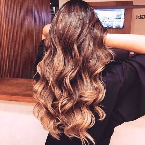 Balayage with Long Wavy Hair