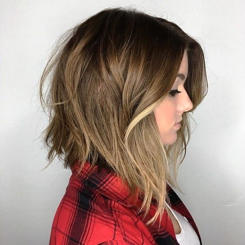 Brown Ginger Shaggy Layered Cut