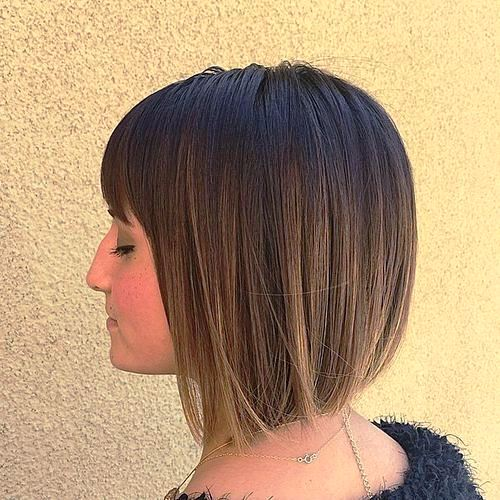 Brown Inverted Short Bob Hairstyles