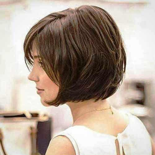 Brunette Short Bob with Layers
