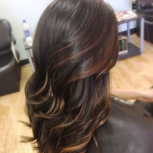 Caramel Highlights with Subtle Layers