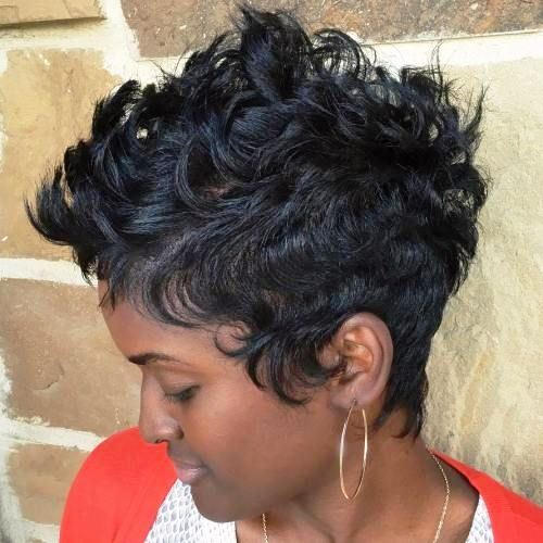Curls and Spikes for Black Women with Short Hair