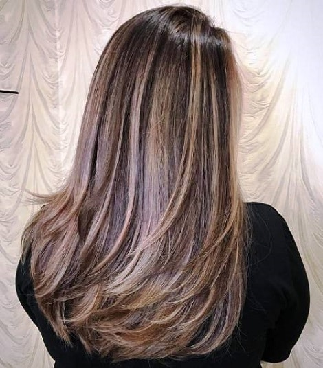 Deep Layers Long Hairstyles for Thick Hair