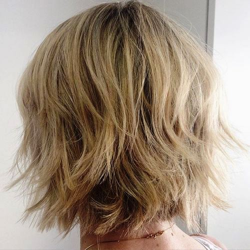 Flicked Layers with a Stacked Bob