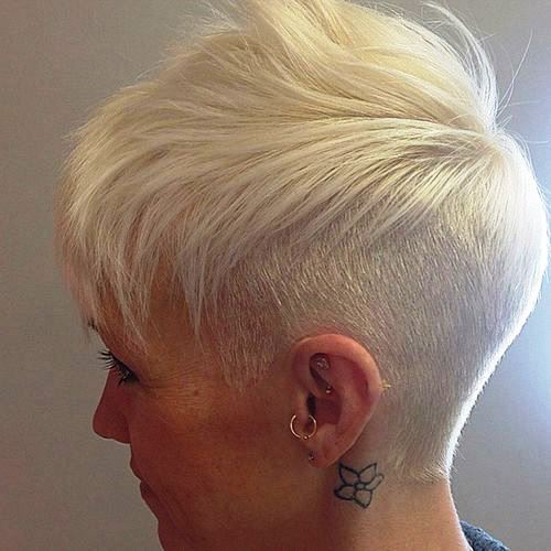 Funky Blonde Haircut