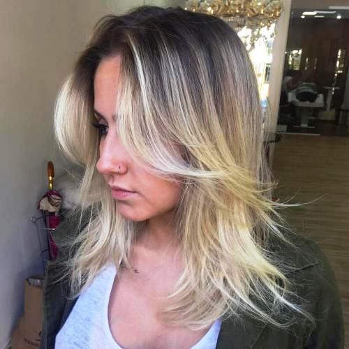 Hairstyle with Flicked Strand Ends