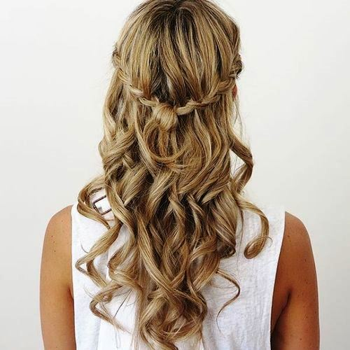 Half up do with Long Hair