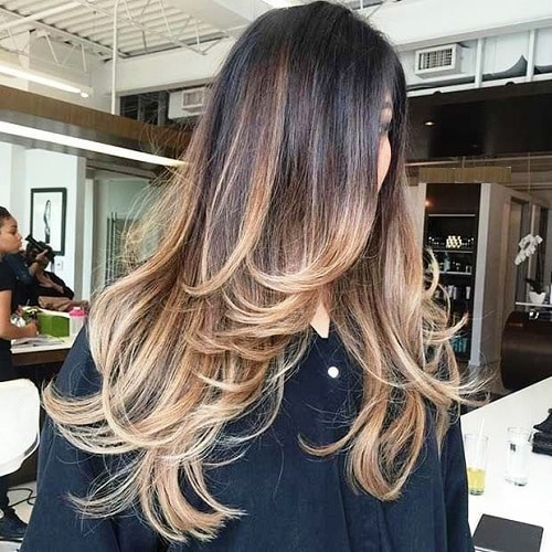 Long Layers with Balayage Highlights