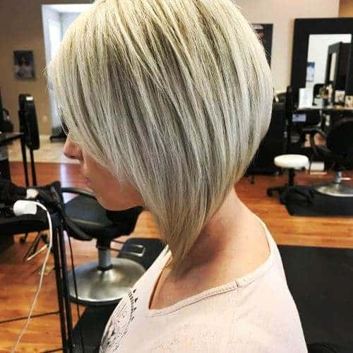 Short Steepy and Angled Bob for Ladies