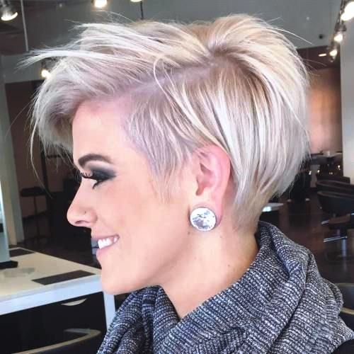 Super Short Bob Haircut with Layers and Undercut