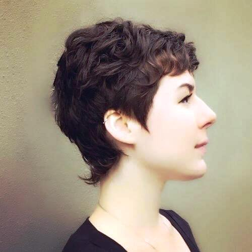 Tapered Pixie with a Curly Top