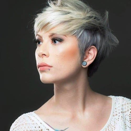 Two Toned Pixie Short Haircut for Women