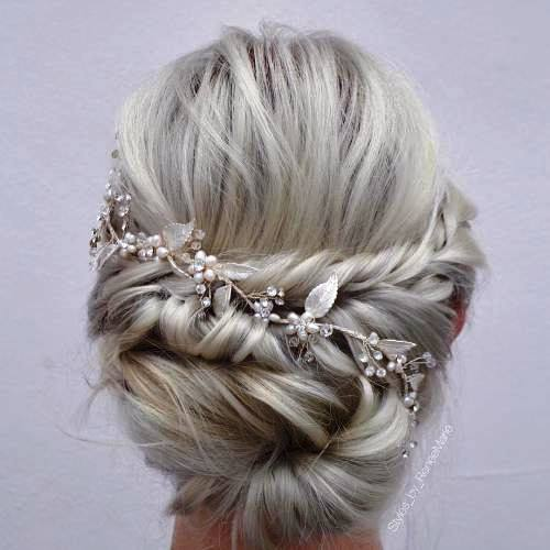 Blonde Hair Updo