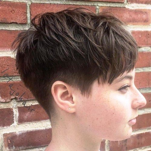 Chic Choppy Pixie Cut For Round Face