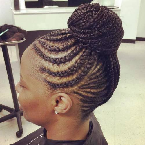 Cornrow Updo is a Fresh Updo