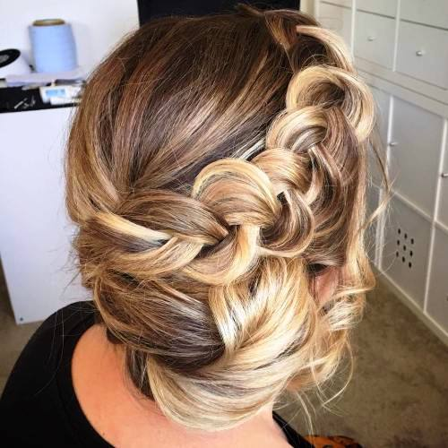 Dutch and Side Braid Updo