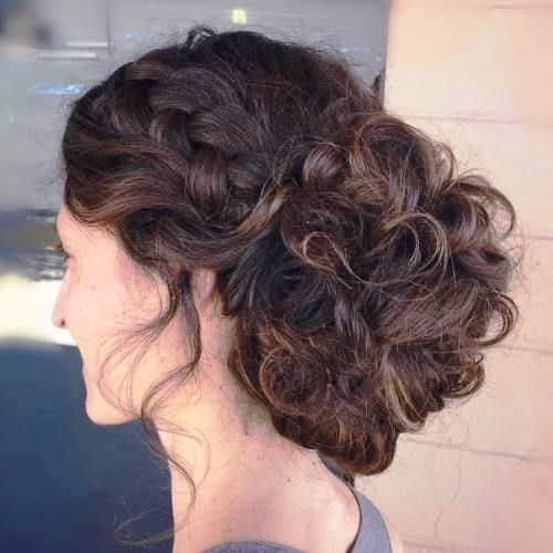 High Updos for Curly Hair
