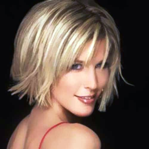 Jagged Bob with Blonde Layers