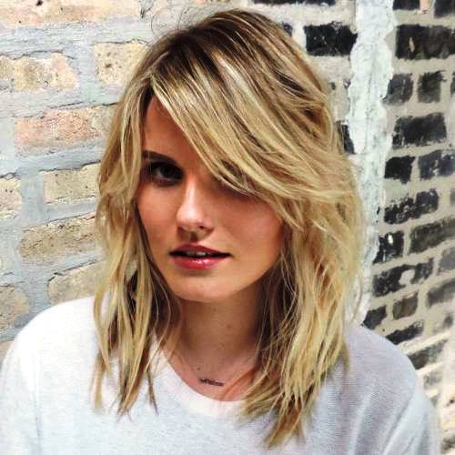 Long Hairstyles With Side Bangs And Layers 85