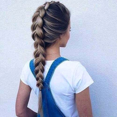 Naughty Ponytail With Bouffant And Braiding