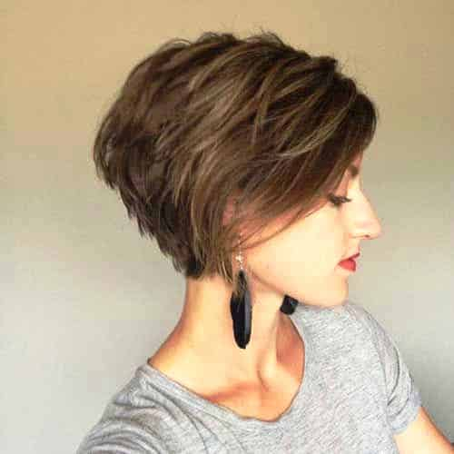 Rich Brunette Pixie Cut
