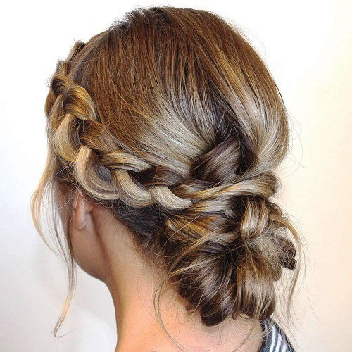 Side Braids and Buns