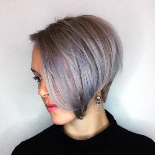 Silver And Shaggy Pixie Haircut