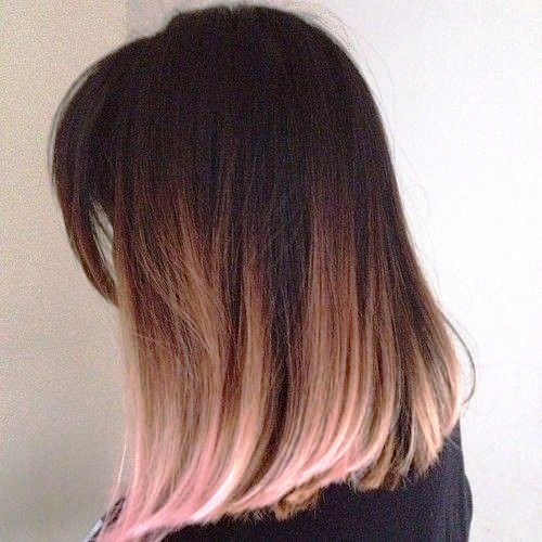 Straight Hairstyle for Dyed Hair
