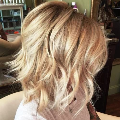Tousled Blond Bob Hairstyle