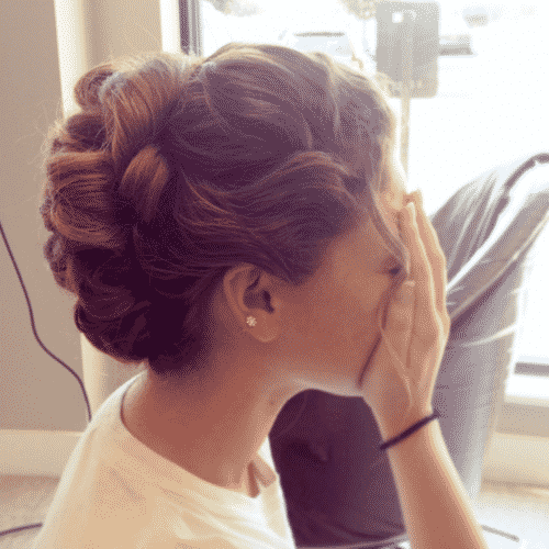 Tumblr Style Updo for Long Hair