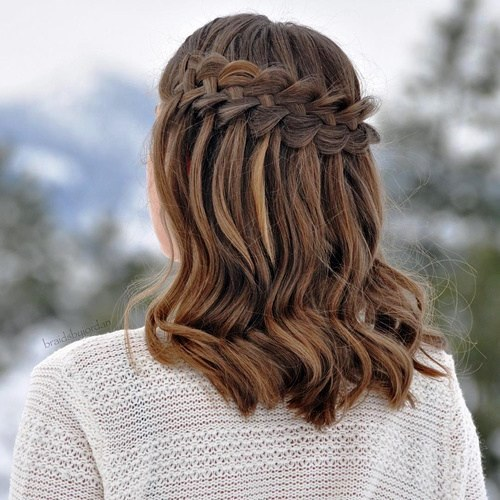 Waterfall Braids with Loose Bun - Absolutely Amazing