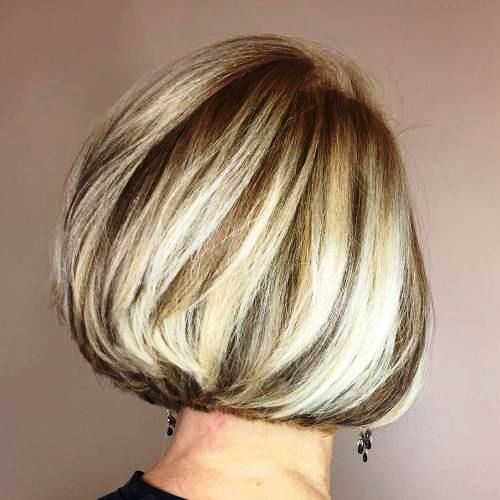Balayage Bob Hairstyle for Women over 50