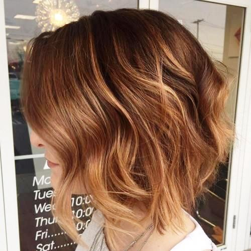 Balayage Short Hair with Dimensional Golden Layers