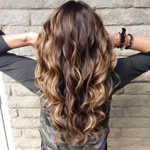 Beachy Curls with Ombre Highlights