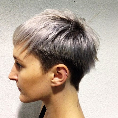 Chic Pixie Rocker Hairstyle for Thin Hair