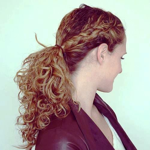 Curled Ringlets for Thick Hair