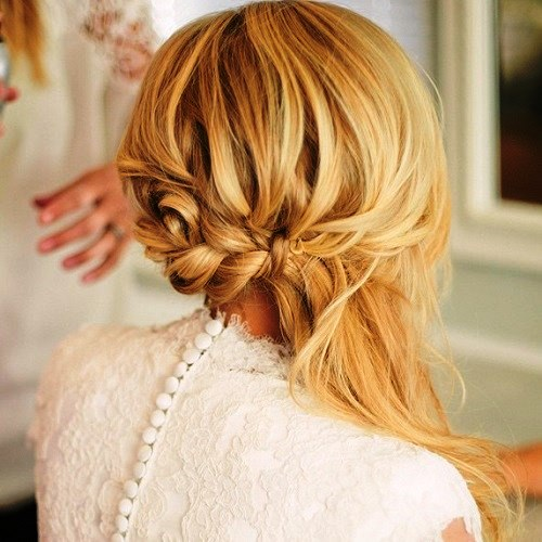 FishBraid with Side Pony and Long Bangs