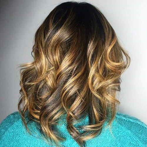 Long Locks with Caramel Highlights