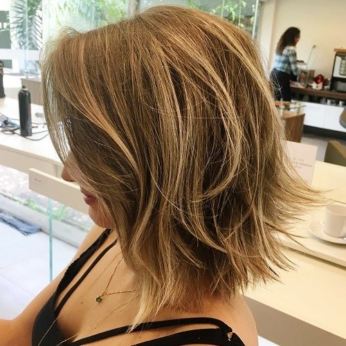 Longer Bangs with Highlighted Bob