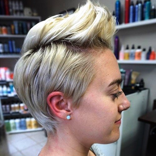Pixie Cut with Dual-Hued Hair