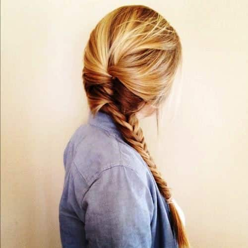 Ponytail Wrapped in Fishbraid