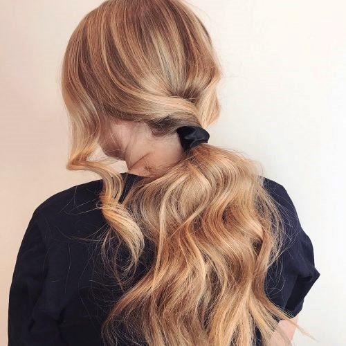 Ponytails with Colorful Ends