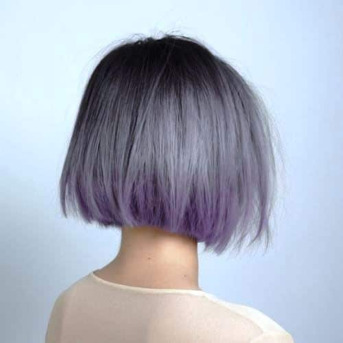 Purple and Gray Short Bob