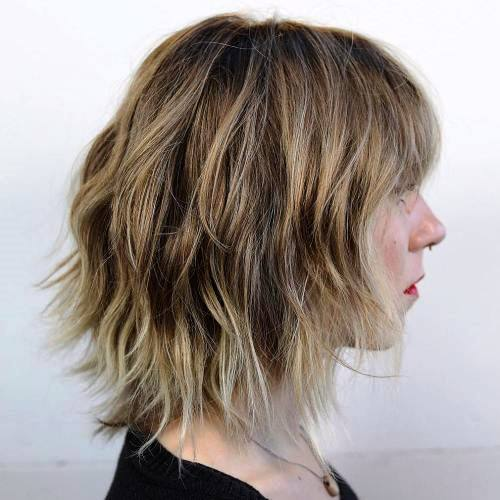 Shaggy Cut with Collar-Bone Length