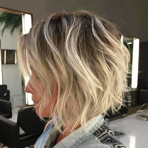 Tousles with Blonde Highlights