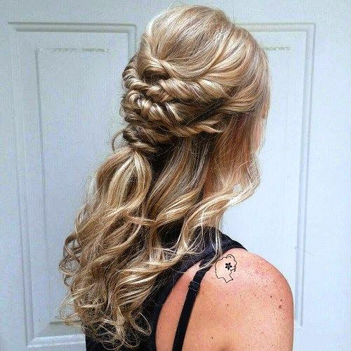 Understated and Simple Half Updo