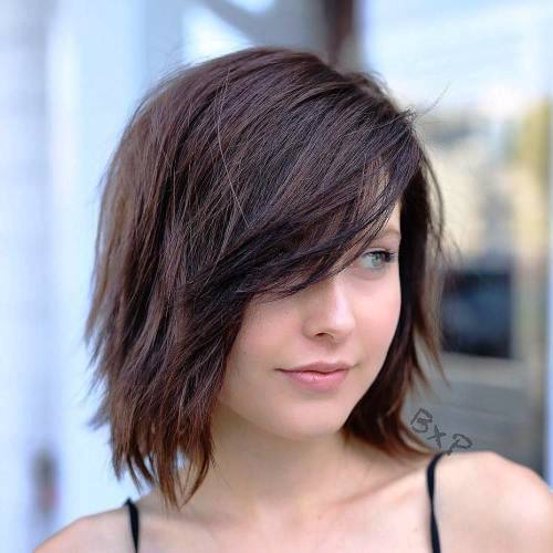 Blunt Bangs with Wispy Sides